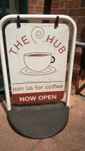 the hub sign